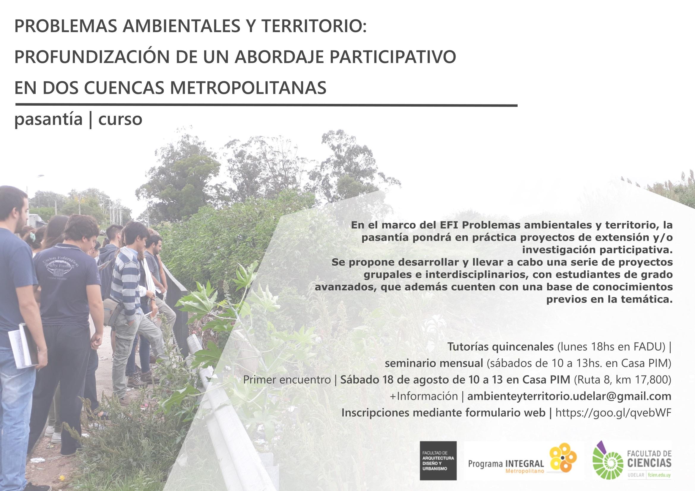 Curso-pasantía Problemas ambientales y territorio